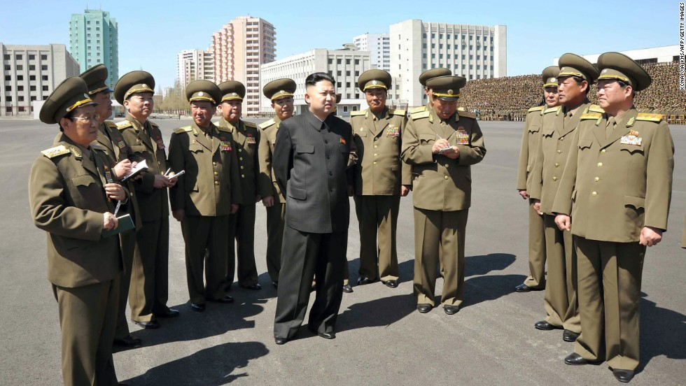 Kim Jong-Un visits the Ministry of People's Security on Wednesday, May 1, as part of the country's May Day celebrations.