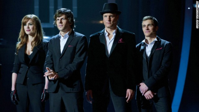 """Isla Fisher, Jesse Eisenberg, Woody Harrelson and Dave Franco star in Summit Entertainment's magical """"Now You See Me."""" """"After Earth"""" and """"The Kings of Summer"""" are also due out."""