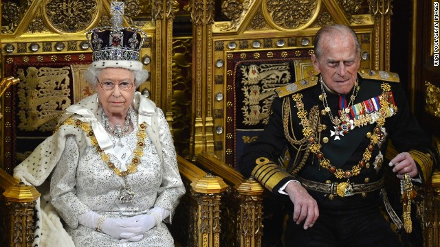 Britain's Queen Elizabeth II and Prince Phillip, Duke of Edinburgh attend the State Opening of Parliament on Wednesday in London.