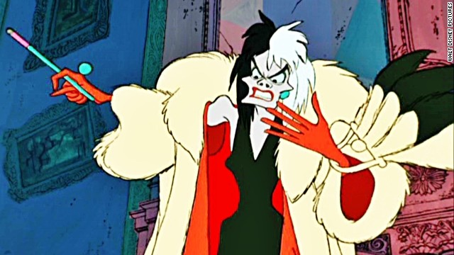 "As the song goes, ""If she doesn't scare you, no evil thing will."" Whether she's animated or not, ""101 Dalmatians' "" Cruella De Vil is one of the most devilish villains of all time. Betty Lou Gerson voiced the puppy-hater in the 1961 adaptation, while Glenn Close played the role in the 1996 live-action version."