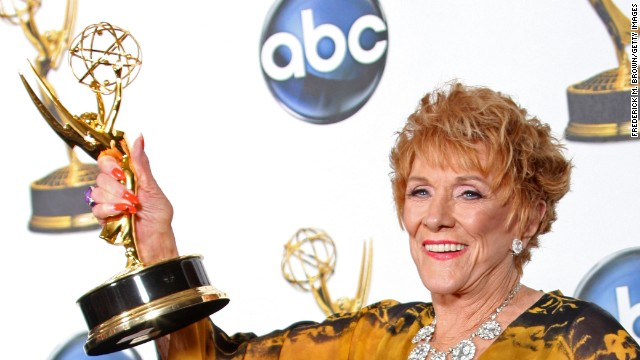 """Cooper celebrates winning outstanding lead actress in a drama series for """"The Young and the Restless"""" during the 35th Annual Daytime Emmy Awards held June 20, 2008, in Hollywood."""