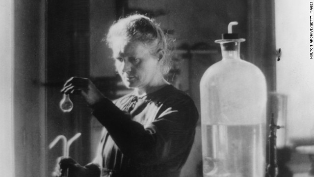 Physicist <a href='http://www.nobelprize.org/nobel_prizes/physics/articles/curie/' target='_blank'>Marie Curie</a> (1867-1934) won two Nobel prizes. Her observations of radiation suggested a relationship between radioactivity and the heavy elements of the Periodic Table. Curie's painstaking research with her husband, Pierre, culminated in the isolation of two new, heavy elements -- polonium, which they named for Marie's homeland Poland, and the naturally glowing radium. <a href='http://www.ncbi.nlm.nih.gov/pmc/articles/PMC3093546/' target='_blank'>Radioactivity has led to many advances in medicine</a>.