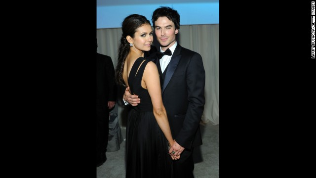 """Vampire Diaries"" stars Nina Dobrev and Ian Somerhalder had a relationship that sizzled on and off the small screen. But the two shocked fans when anonymous sources confirmed to <a href='http://www.people.com/people/article/0,,20698772,00.html' target='_blank'>People</a> in May 2013 that the co-stars were no longer a couple after dating for ""several years."""