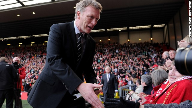 Moyes attends the 24th Hillsborough Anniversary Memorial Service at Anfield last month in Liverpool. Thousands of fans, friends and relatives took part in the service to mark the death of 96 football fans in an FA Cup semifinal match in April 1989.