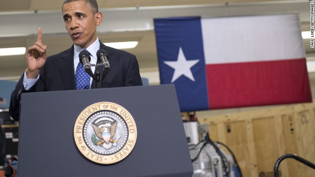 Obama goes small on Texas jobs tour