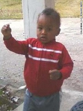 Eighteen-month-old Amir Jennings was last seen with his mother in Columbia, South Carolina, in November 2011. Both were reported missing by a family member in early December 2011. Amir's mother was located a few weeks later after she was involved in a car accident. Amir was not in the car. Amir's mother has been convicted of being involved in the toddler's disappearance, but the boy has yet to be found.