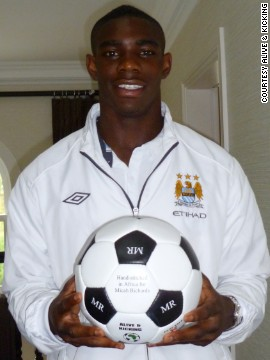 England international footballer and Manchester City defender Micah Richards is one of Alive & Kicking's ambassadors.
