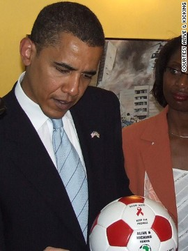 Even Barack Obama was presented with one of the group's balls during a visit to Kenya in 2006.
