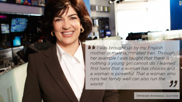 <a href='www.twitter.com/camanpour' target='_blank'>Christiane Amanpour</a><strong> </strong>is CNN's chief international correspondent and anchor of nightly foreign affairs show, <a href='http://amanpour.blogs.cnn.com/' target='_blank'>Amanpour</a>. She has reported from every major world news event and hotspot, including Iraq, Afghanistan, North Korea as well as having interviewed most of the world's leaders, including Moammar Gadhafi, Hosni Mubarak, Tony Blair, Jacques Chirac and Hamid Karzai.