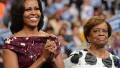 First Lady Michelle Obama and her mother Marian Robinson