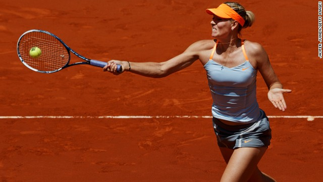 World No. 2 Maria Sharapova won through to the final of the Madrid Masters after beating Serbia's Ana Ivanovic 6-4 6-3 in the semis.