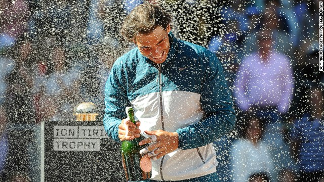 In the men's tournament in Madrid, Rafael Nadal delighted his home fans by winning the Spanish tournament for the third time, beating Swiss 15th seed Stanislas Wawrinka in the final.