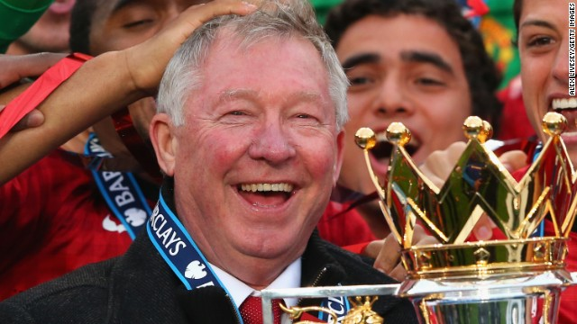 Ferguson signed off by winning the Premier League title for the 13th time. He nominated David Moyes, then at Everton, to replace him as manager.
