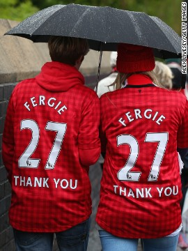 United fans braved the rain to pay their respects, with tickets reportedly being sold on the black market for more than 10 times their face value.