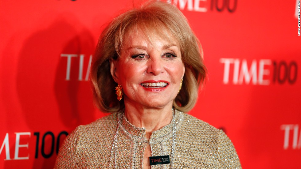 After a journalism career spanning a half century, Barbara Walters will retire from TV journalism in 2014, ABC reported late Sunday, May 12. We look back on the career of Walters, shown here at the Time 100 gala in New York City on April 23.