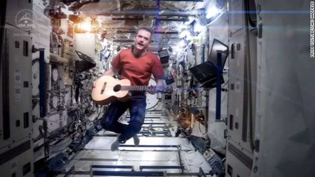 Many space fans already know about Chris Hadfield, a Canadian Space Agency astronaut who just spent five months aboard the International Space Station. He's a bit of a social media star, with hundreds of thousands of fans on Facebook and <a href='https://twitter.com/Cmdr_Hadfield' target='_blank'>Twitter</a>. But his rendition of <a href='https://www.youtube.com/watch?v=4NX9ucLRJX8' target='_blank'>David Bowie's