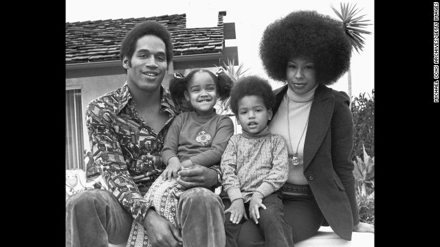 Simpson with his wife, Marguerite Whitley, and daughter Arnelle and son Jason, circa 1974. The couple were married from 1967 to 1979. They had another daughter, Aaren, who died as a toddler in a drowning accident.