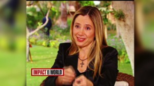 Mira Sorvino fights human trafficking