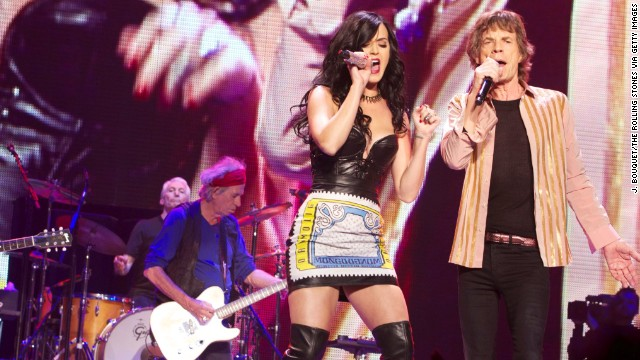 Katy Perry jams with the Rolling Stones in Vegas