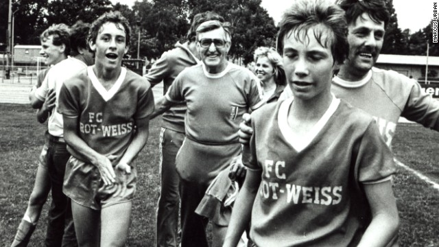 Urban, pictured on the far left, began his career in 1978 when he joined East German club Motor Weimar at the age of seven. He moved to Rot-Weiss Erfurt in 1984, where he won a youth championship.