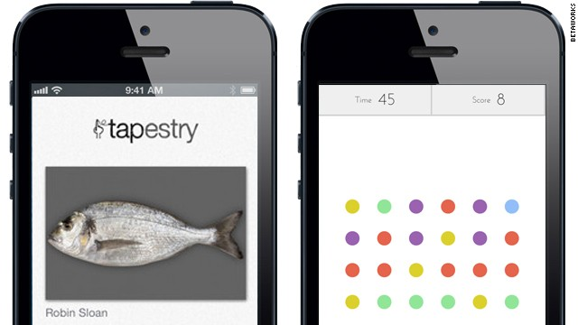 Two Betaworks apps: Tapestry, a short-story reader, and