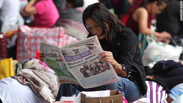 Hong Kong is facing a shortage of foreign domestic helpers from the region.