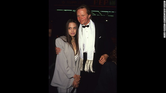 Jolie and Jon Voight are seen in an undated photo.