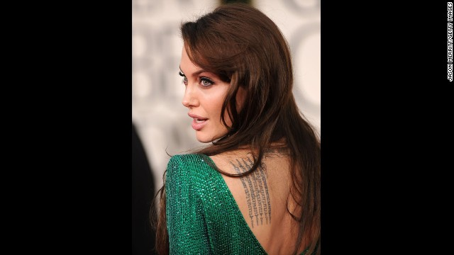 Jolie appears at the 68th annual Golden Globe Awards in Beverley Hills in January 2011.