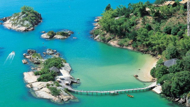 <a href='http://www.pontadosganchos.com.br/' target='_blank'>Ponta dos Ganchos</a> in Brazil's Santa Catarina is tucked away on a privately owned peninsula.