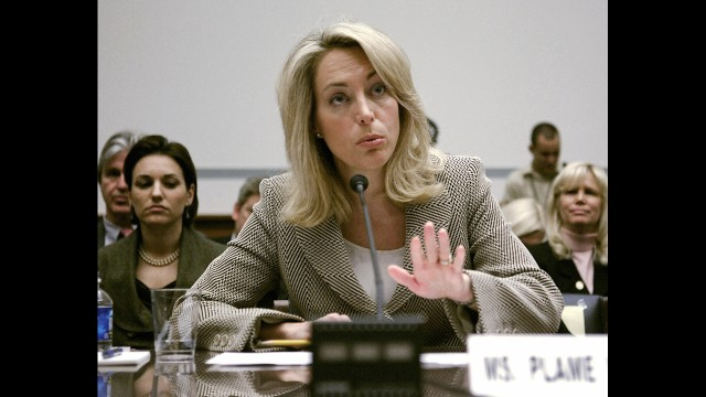 Members of the Bush administration were accused retaliating against Valerie Plame, pictured, by blowing her cover in 2003 as a U.S. intelligence operative, after her husband, former Ambassador Joe Wilson, wrote a series of New York Times op-eds questioning the basis of certain facts the administration used to make the argument to go to war in Iraq.
