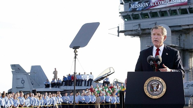 "When President George W. Bush addressed the nation aboard the USS Abraham Lincoln in May of 2003, standing in front of a ""Mission Accomplished"" banner, few expected that the U.S. involvement in the deadly Iraq War would last for another eight years."