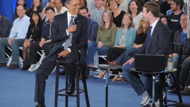 Zuckerberg did clean up his act when President Barack Obama visited Facebook headquarters in April 2011. His suit and tie were so rare, Obama even made a joke about it.