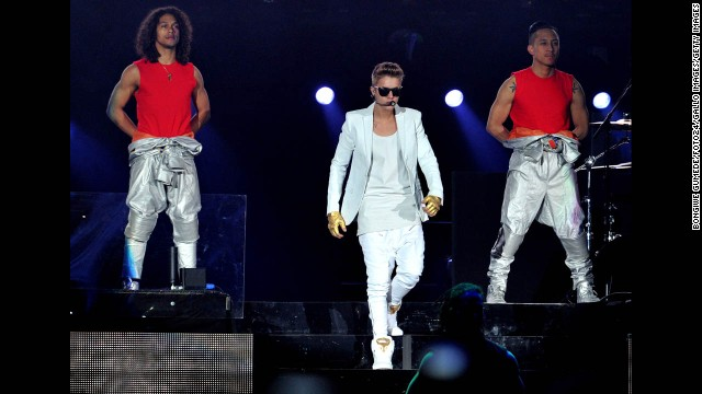 Earlier in May, a fan rushed Bieber on stage and attempted to grab him during a concert in the United Arab Emirates. Also that month, a safe in a stadium in Johannesburg, South Africa, was raided after a Bieber performance.