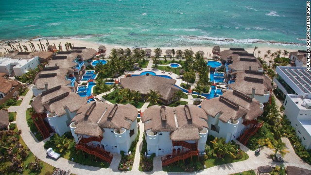 <a href='http://karismahotels.com/HotelsResorts/ForAdultsOnly/ElDoradoCasitasRoyale' target='_blank'>El Dorado Casitas Royale</a> on Mexico's Riviera Maya offers private casitas for couples.