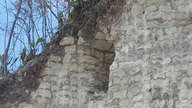 The limestone from which the pyramid is made is prized by local contractors for building and repairing.