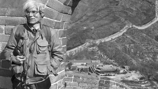 "Warhol also spent a morning at the Great Wall of China. ""It doesn't look like a wall, it looks like a rollercoaster without the roller,"" Makos recalls him remarking."
