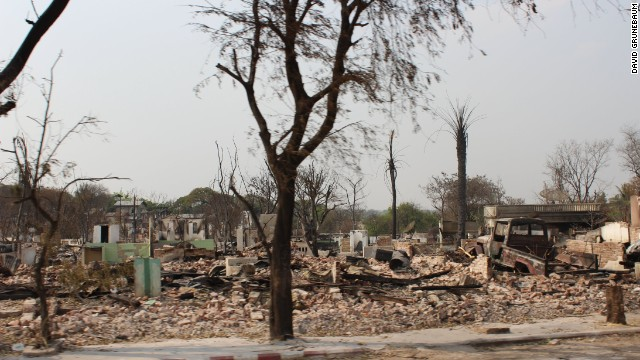 Many other families have not been as lucky, with large parts of Meiktila razed to the ground.