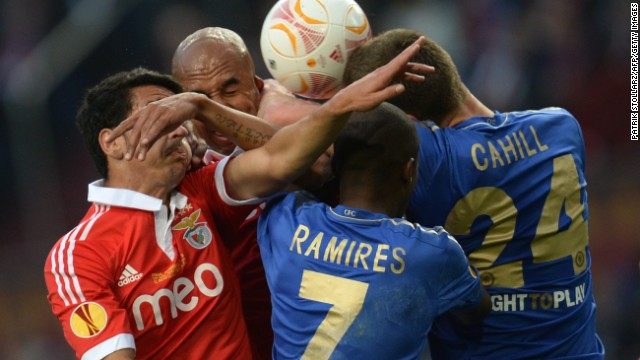Chelsea spent much of the first half on the back foot with its defense constantly repelling Benfica's forceful attacks.