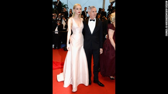 "Carey Mulligan and director Baz Luhrmann at ""The Great Gatsby"" premiere."