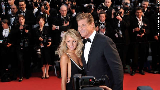 "Hayley Roberts and David Hasselhoff at ""The Great Gatsby"" premiere."
