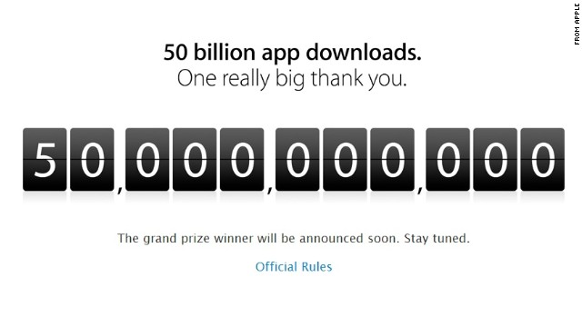 Terminó la cuenta regresiva: Apple llega a 50.000 millones de descargas