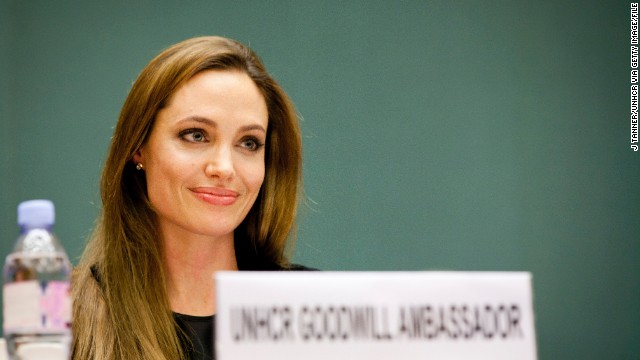 Jolie has undertaken over 40 trips to conflict zones around the world, and last April she was named UN Special Envoy for refugees. She is pictured here attending the annual meeting of the UNHCR's governing Executive Committee on October 4, 2011 in Geneva, Switzerland.