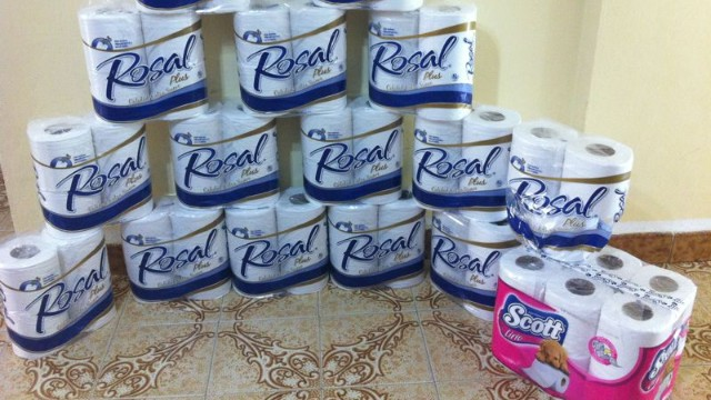 Venezuela's monthly demand for toilet paper is about 125 million rolls a month.