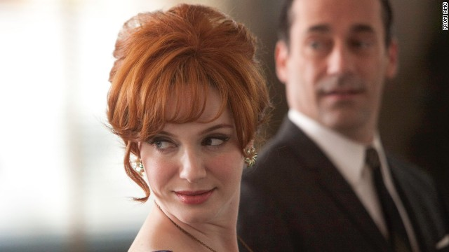"<strong>Outstanding Supporting Actress in a Drama Series: Christina Hendricks</strong>, who plays Joan Harris in ""Mad Men"" was nominated, along with <strong>Anna Gunn </strong>(""Breaking Bad""), <strong>Maggie Smith </strong>(""Downton Abbey""), <strong>Joanne Froggatt </strong>(""Downton Abbey""), <strong>Lena Headey</strong> (""Game of Thrones""), <strong>Christine Baranski </strong>(""The Good Wife"")."