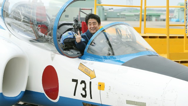 S. Korean media said a recent image of PM Shinzo Abe sitting in a fighter jet was a reminder of Japan's colonial-era atrocities.