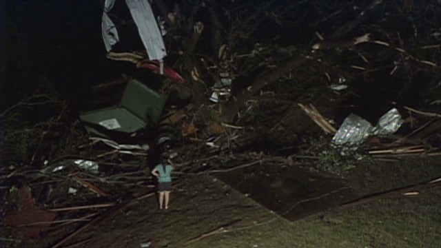 At least 10 tornadoes touched down in the Dallas-Fort Worth area Wednesday night, according to the National Weather Service.