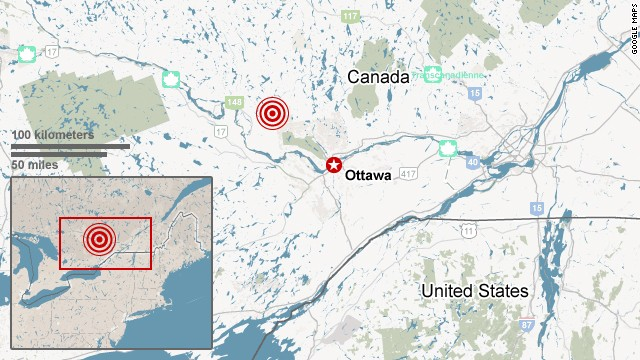 Earthquake rattles eastern Canada