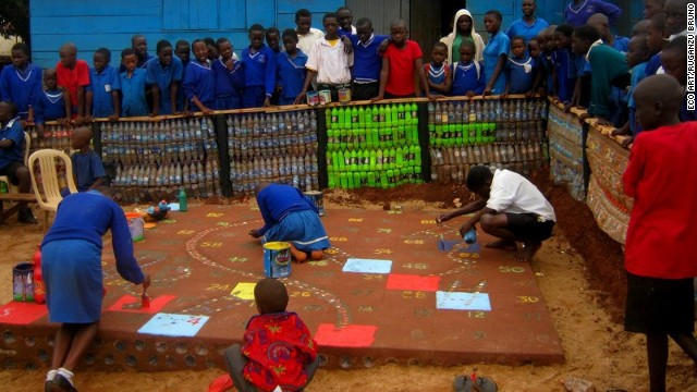 A huge board game built inside the school yard in Acholi Quarters, Kireka.
