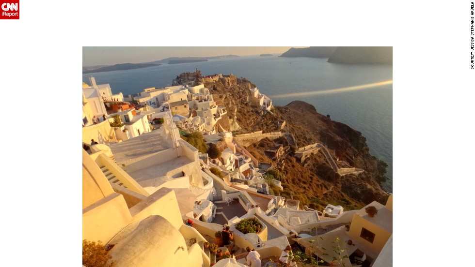 The island of Thira, colloquially known as Santorini, lies off the southeast tip of Greece and is known for its sunsets. See more images from around Greece on &lt;a href='http://ireport.cnn.com/docs/DOC-862128'&gt;CNN iReport&lt;/a&gt;.
