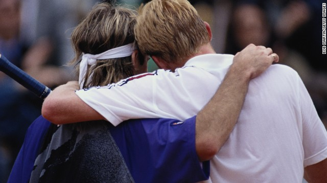 Becker's last appearance in the semifinals in 1991 saw him well beaten by Andre Agassi, who in the German's words was just too good on clay. The American went on to complete the career grand slam of four majors.